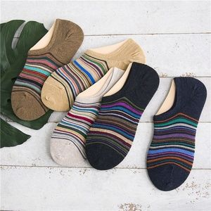 Other - 5 Pairs Mens Cotton No Show Ankle Socks